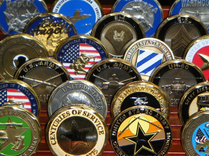 Army Challenge Coins | Fire Department Challenge Coins