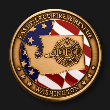 Fire Department Custom Coins | Fire Department Challenge