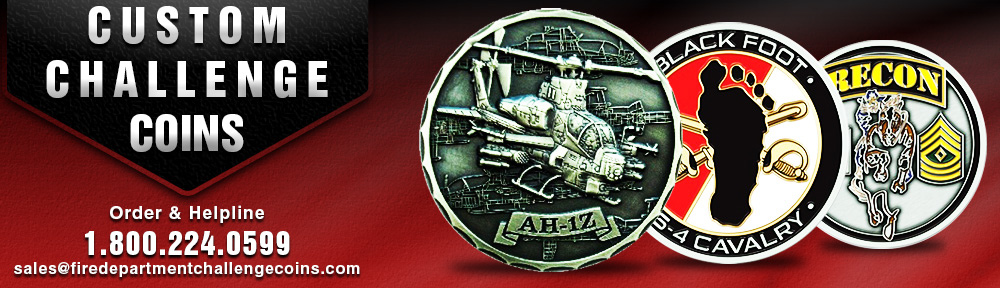 Fire Department Challenge Coins | Fire Department Medallions
